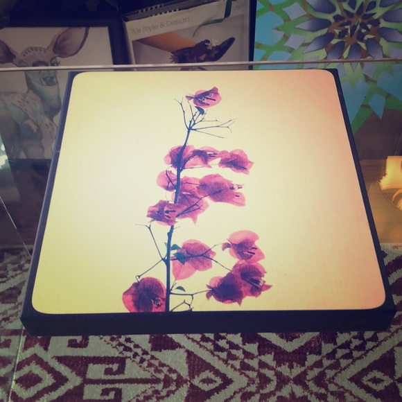 Orchid print on thick canvas